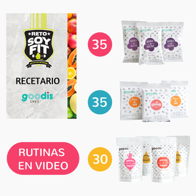 Kit 100 snacks con recetario y rutinas en video