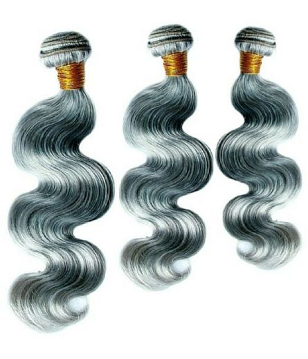 Brazilian Gray Body Wave Hair Extensions Bundle Deal
