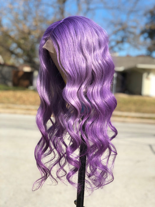 Lace Front Wig Custom Color Purple