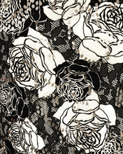 Load image into Gallery viewer, Black and White Floral Nursing Cover