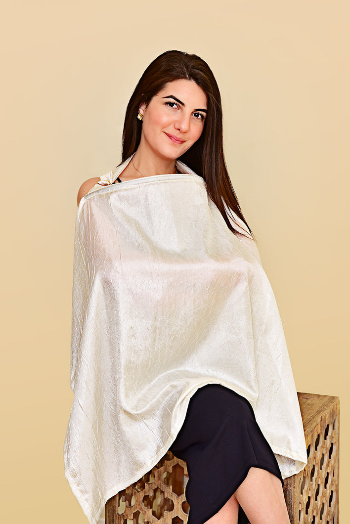 Silk Ivory Nursing Cover