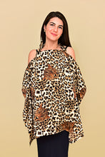 Load image into Gallery viewer, Satin Leopard Print Nursing Cover