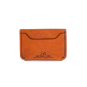The Bare Bones Wallet - Cognac