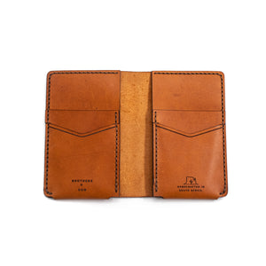 The Vertical wallet - Cognac
