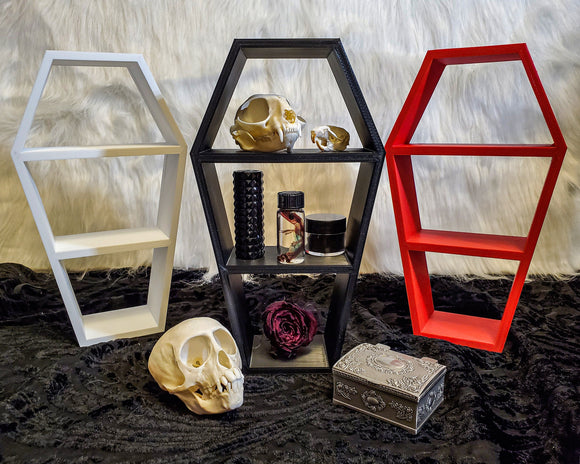 "Coffin Shelf 10"" Tall 
