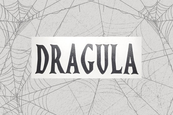 Dragula Permanent Vinyl Decal || Gothic Home Decor Halloween Decoration Witch Pentagram Car Accessories Bumper Sticker