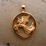 Cat Angel in 14k gold