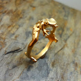 Toad Frog Ring in 14k gold