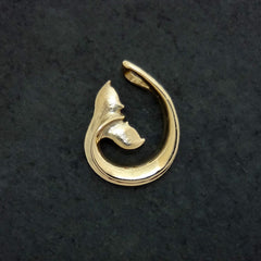 Whale Tail Pendant in 14k Gold