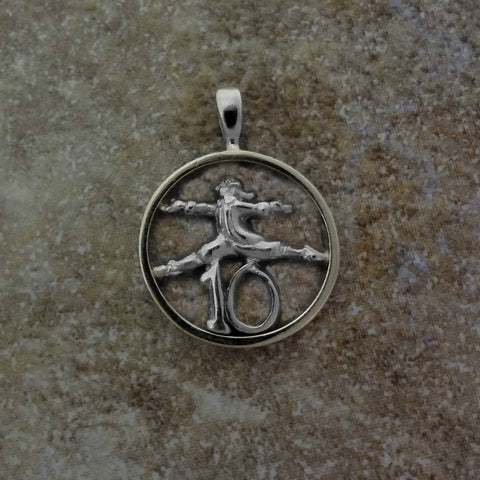 Ten Lords a-Leaping Circle Pendant handmade in Sterling or 14k Gold by Tosa Fine Jewelry