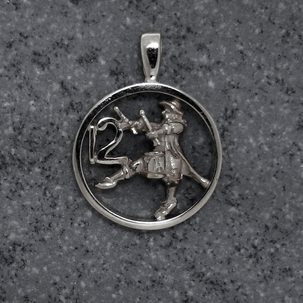 Twelve Drummers Drumming Circle Pendant handmade in Sterling or 14k Gold by Tosa Fine Jewelry