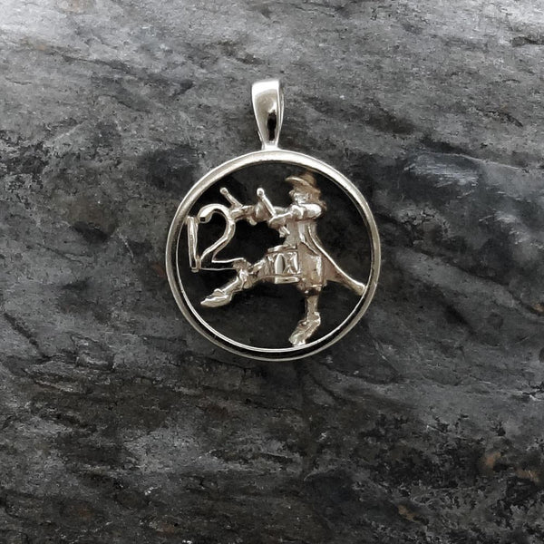 Twelve Drummers Drumming Circle Pendant handmade in Sterling or 14k Gold by All Animal Jewelry