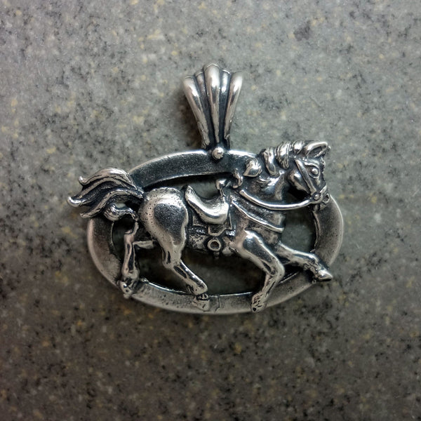 Pony Pendant - Handmade in 14k Gold or Sterling Silver