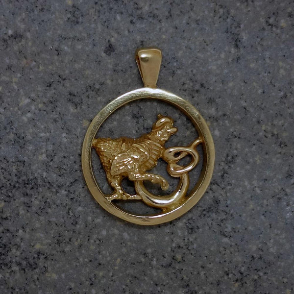 Thee French Hens Pendant handmade in Sterling or 14k Gold by All Animal Jewelry