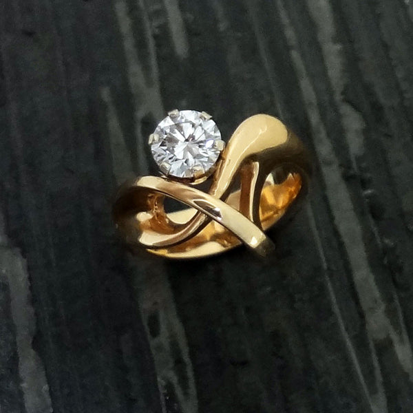 "Designer ""Over-Underpass"" Ring - Handmade in 14k Gold, 18k Gold or Sterling Silver"