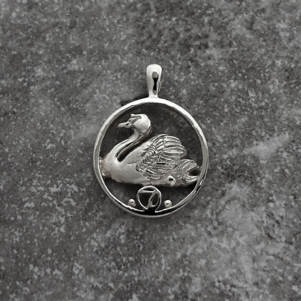 Christmas Charm, Seven Swans a Swimming - Handmade in 14k Gold or Sterling Silver