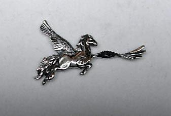 Pegasus horse pendant, hand made by all animal jewelry