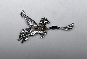 Pegasus, handcrafted jewelry pendant n sterling or karat gold
