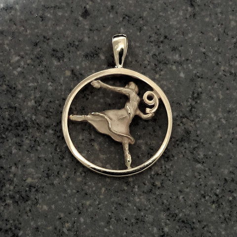 Nine Ladies Dancing Circle Pendant handmade in Sterling or 14k Gold by Tosa Fine Jewelry