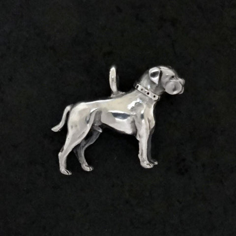 American Bulldog Pendant handmade in Sterling or 14k gold by All Animal Jewelry