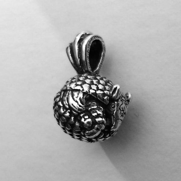 Armadillo Pendant handmade in Sterling or 14k gold by Tosa Fine Jewelry