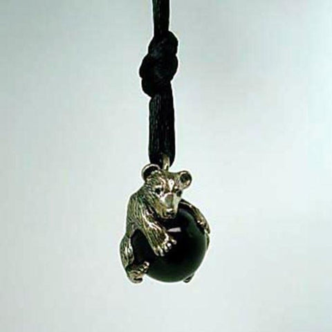 Bear Pendant Pawjama handmade in Sterling or 14k gold by All Animal Jewelry