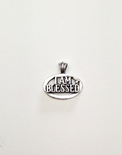 I AM BLESSED pendant or charm handmade in Sterling or 14k gold by Tosa Fine Jewelry