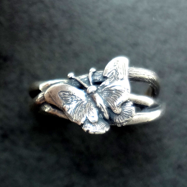 Butterfly Ring handmade in Sterling or 14k Gold by Tosa Fine Jewelry