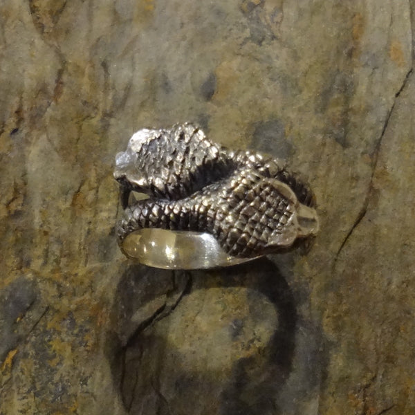 Snake Ring handmade in Sterling or 14k gold by Tosa Fine Jewelry
