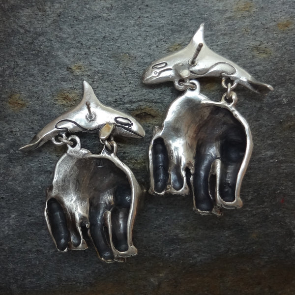 Polar Bear, Penguin and Orca Arctic Earrings handmade in Sterling or 14k Gold by Tosa Fine Jewelry