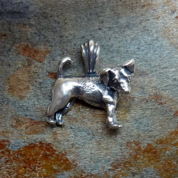 Jack Russell Terrier Dog Pendant - Handmade in 14k Gold or Sterling Silver - Wholesale