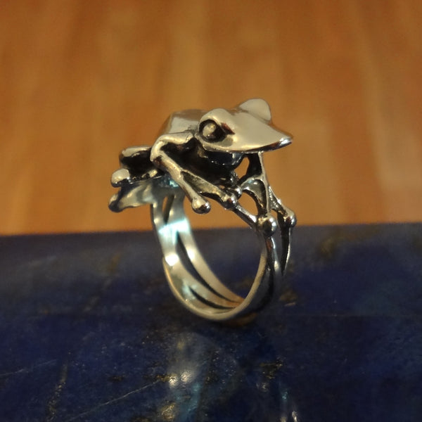 Truro Frog Ring - Handmade - Sterling SIlver, 14k Gold or High Karat