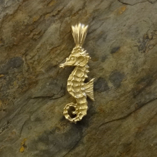 Seahorse Pendant handmade in Sterling or 14k gold by All Animal Jewelry