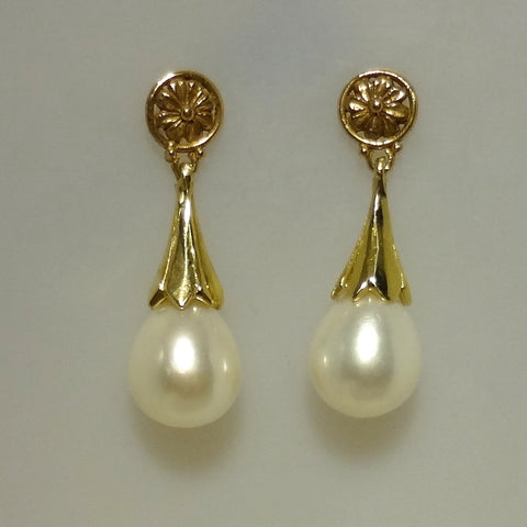 Exclusive One of a Kind 14k Gold and Cultured Freshwater Pearls handmade by Tosa Fine Jewelry
