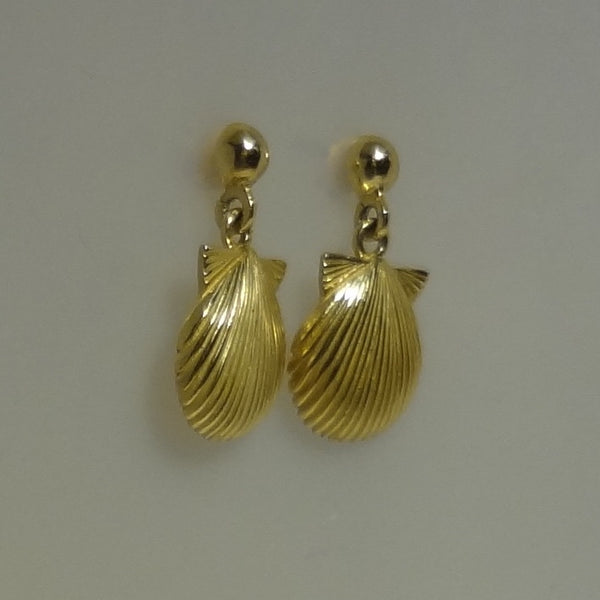 Pretty Shell Earrings  handmade in Sterling or 14k gold by Tosa Fine Jewelry