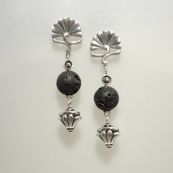 Lava Earrings - Handmade in Sterling Silver