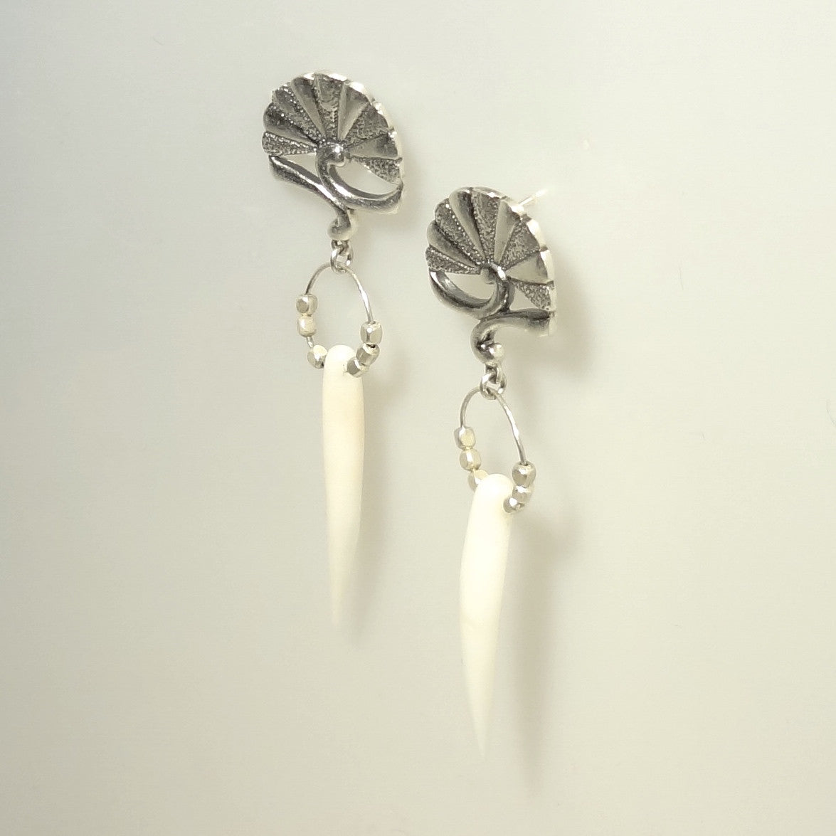 Coral Spike Earring - Handmade in Sterling Silver – All Animal Jewelry