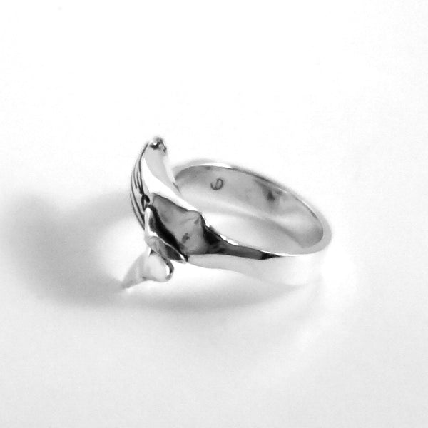 Humpback Whale Ring handmade in Sterling or 14k Gold by Tosa Fine Jewelry