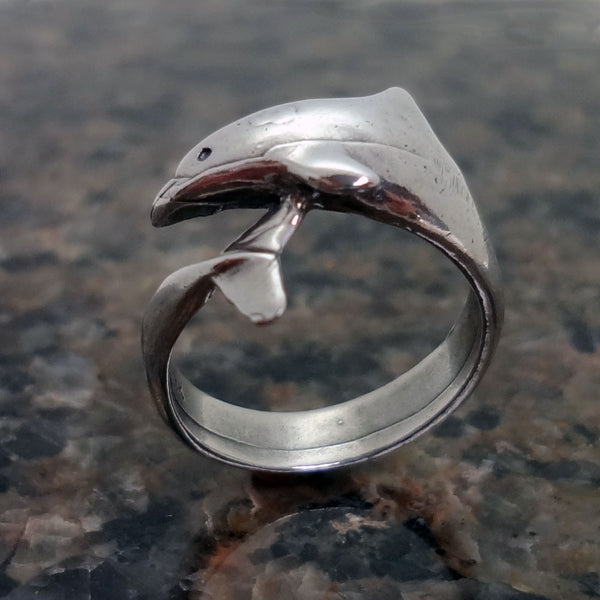 Dolphin Wrap Around RingSperm Whale Ring handmade in Sterling or 14k Gold by Tosa Fine Jewelry