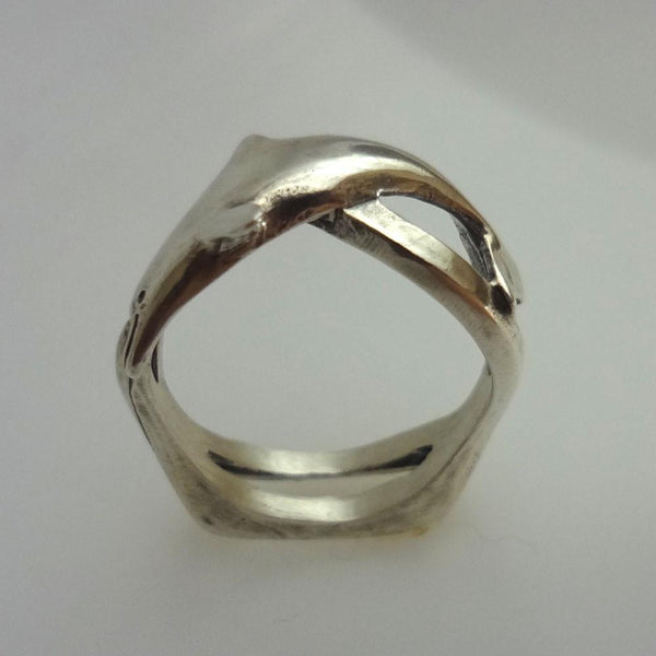 Dolphin Wave Ring handmade in Sterling or 14k Gold by All Animal Jewelry