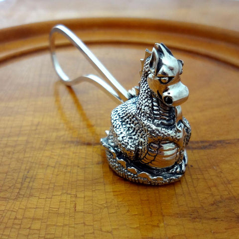 Dragon Candle Snuffer handmade in Sterling or 14k Gold by All Animal Jewelry