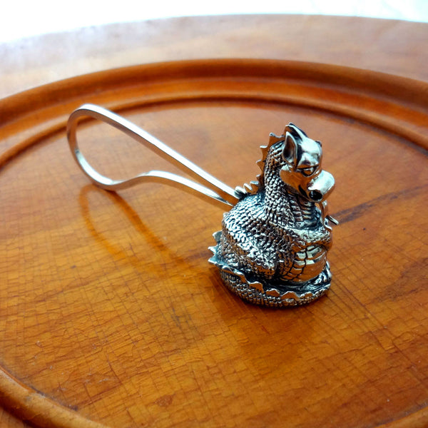 Dragon Candle Snuffer handmade in Sterling or 14k Gold by Tosa Fine Jewelry