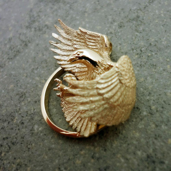 Bald Eagle Pendant - Handmade in 14k Gold or Sterling Silver - Wholesale