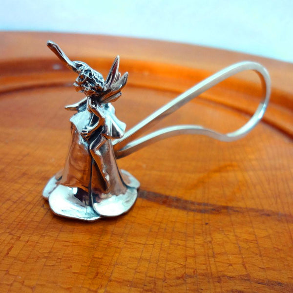 Fairy Candle Snuffer handmade in Sterling or 14k Gold by All Animal Jewelry