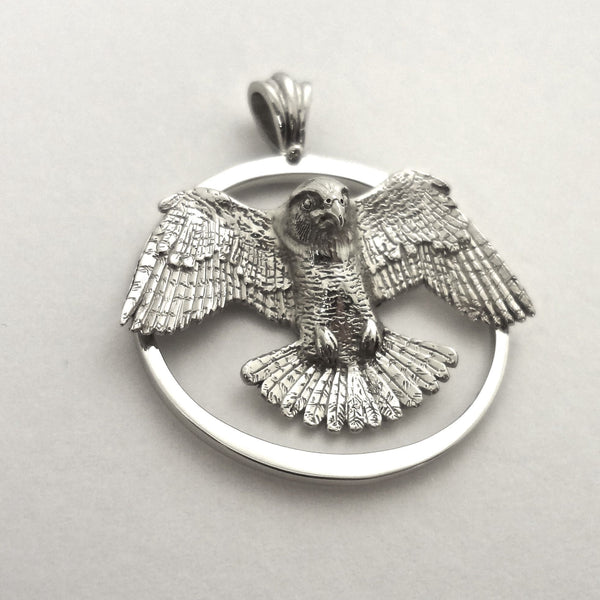 Peregrine Falcon Pendant - Handmade in the Pacific Northwest