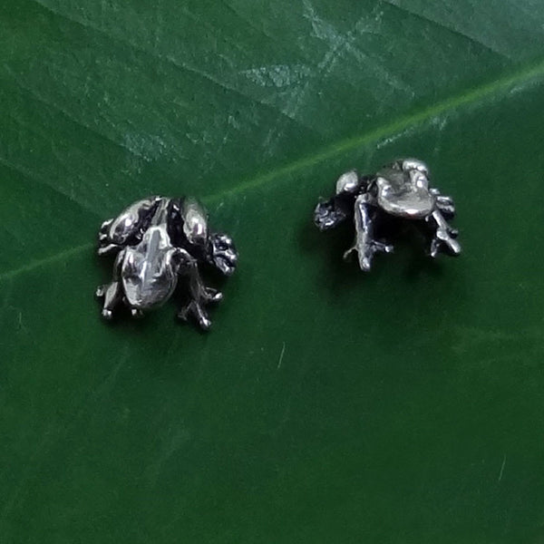 "Frog ""Peeper"" Earrings handmade in Sterling or 14k Gold by Tosa Fine Jewelry"