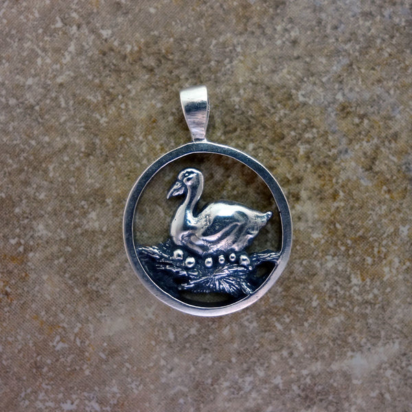 Goose Pendant - Handmade in 14k Gold or Sterling Silver