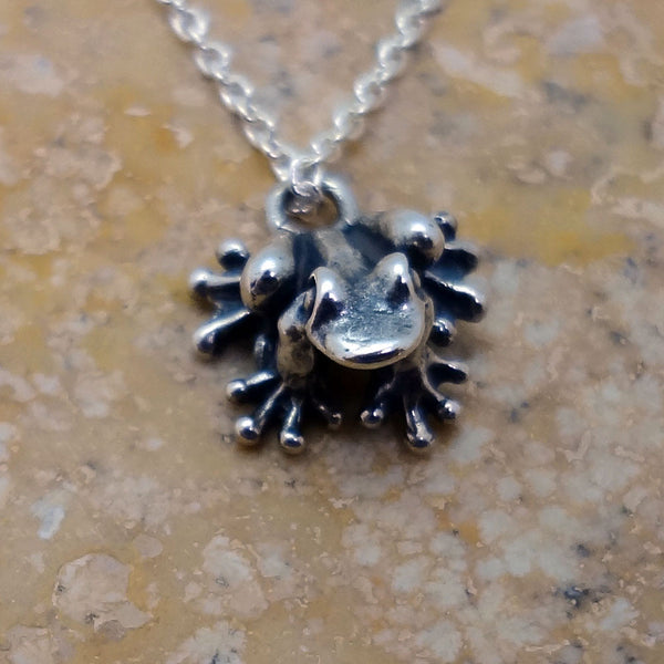Happy Frog  Pendant handmade in Sterling or 14k Gold by Tosa Fine Jewelry