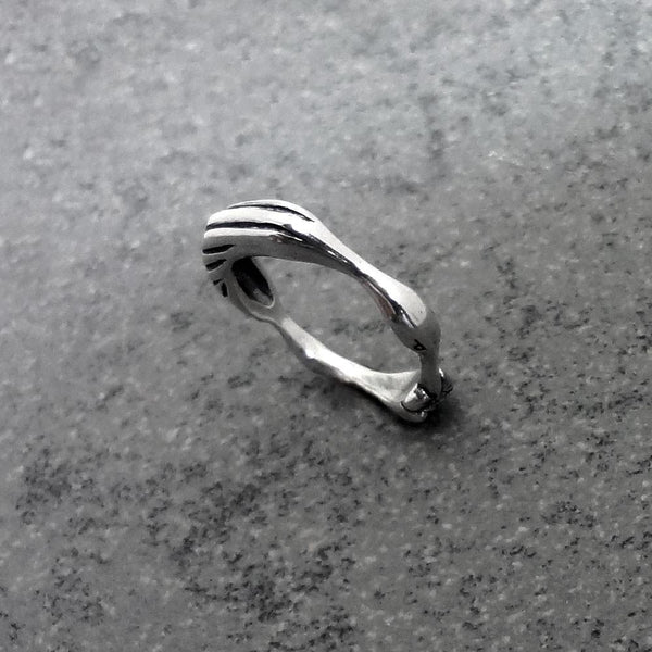 Heron Ring handmade in Sterling or 14k Gold by All Animal Jewelry