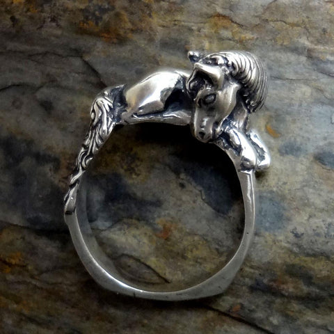 Horse Ring handmade in Sterling or 14k Gold by All Animal Jewelry